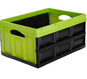 Stackable Storage Bins Folding Plastic Crates